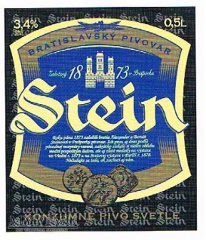 stein konzumné pivo svetlé