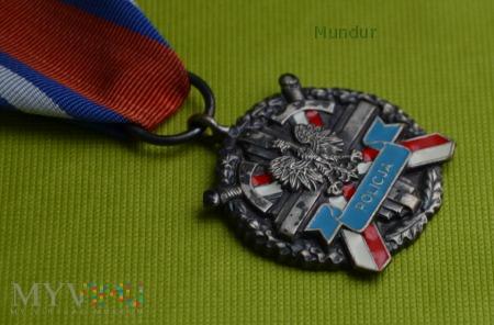 Medal za Zasługi dla Policji - srebrny