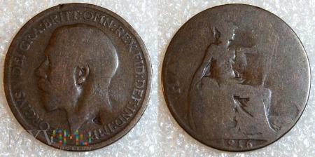 Wielka Brytania, half penny 1916