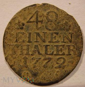 48 EINEN THALER 1772 A