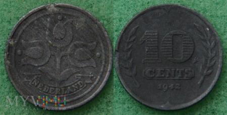 Holandia, 1942, 10 centów