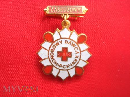 Srebrna Odznaka Zasłużony Honorowy Dawca Krwi PCK