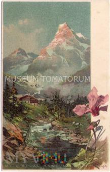 Widok górski - pocz. XX wieku