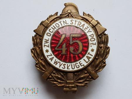 Odznaka Za Wysługę 45 Lat Jednoczęściowa Wypukła