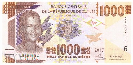 Gwinea - 1 000 franków (2017)