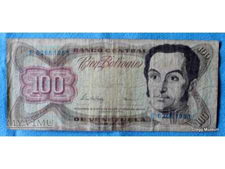 100 BOLIWARES - WENEZUELA