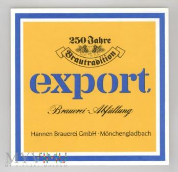 Hannen Export