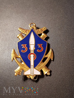 Odznaka Grupy Artylerii Morskiej 303 _ Francja