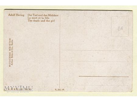 Śmierć i Dziewczyna Adolf Hering pocztówka