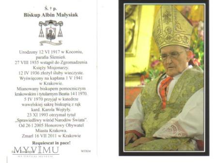 Obrazem Św.P. Bp. Albina Małysiaka