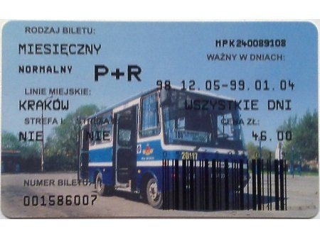 Bilet MPK Kraków 51