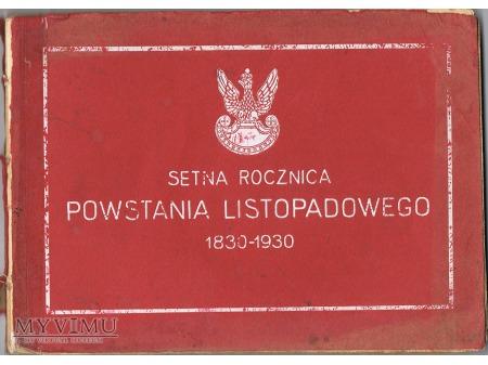 Duże zdjęcie SETNA ROCZNICA POWSTANIA LISTOPADOWEGO 1830-1930