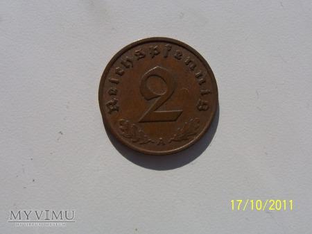 2 REICHSPFENNIG 1937 - MENNICA A - Berlin