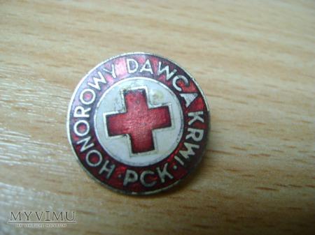odznaka Honorowy Dawca Krwi PCK