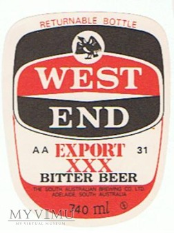 west end export xxx bitter beer