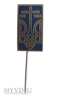 1000-lecie chrztu Ukrainy odznaka 988-1988