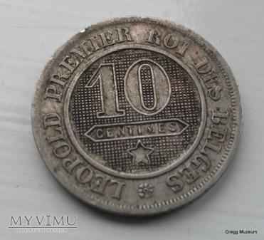 10 CENTIMES 1863 BELGIA