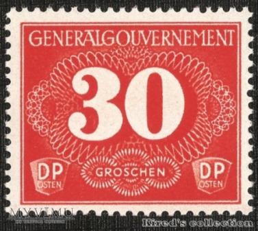 Postgebührenmarke 30 groszy