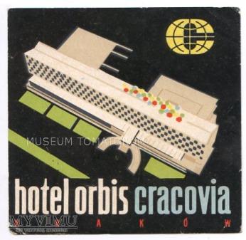 Nalepka hotelowa - Kraków - Hotel Orbis Cracovia