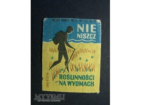 Etykieta - Nie niszcz roślinności na wydmach