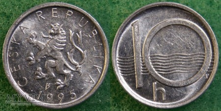 Czechy, 10 Haléřů 1995