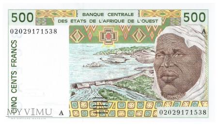 Wyb. Kości Słoniowej (CFA) - 500 franków (2002)