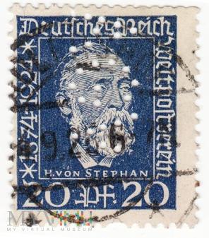 Deutches Reich 1924 - Heinrich von Stephan 20pf