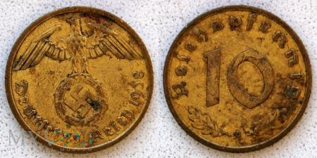 Niemcy, 1938, 10 Reichspfennig