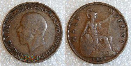 Wielka Brytania, half penny 1929