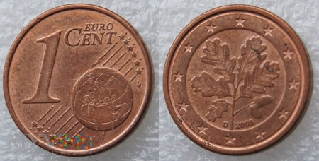 1 EURO CENT 2005 D