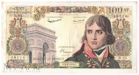 Francja - 100 franków (1959)