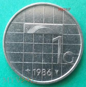 1 Gulden Holandia 1986