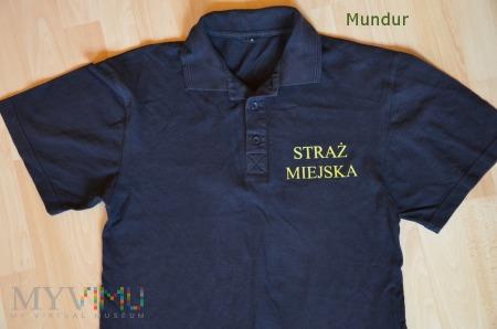 Koszulka polo Straży Miejskiej - żółte napisy
