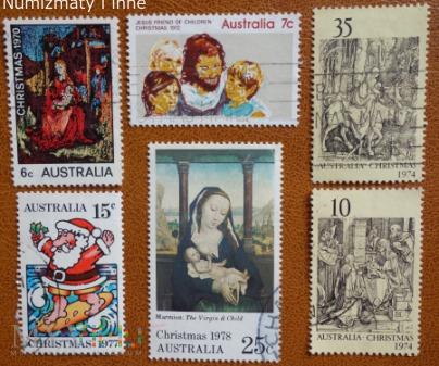 6 znaczków Australii Boże Narodzenie