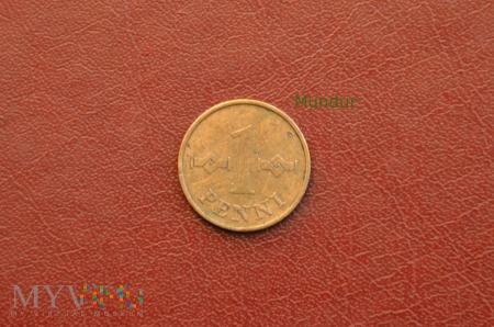 Moneta fińska: 1 penni