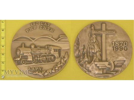 Medal kolejowy - firmowy ZNTK Łapy