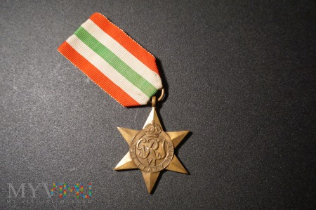 Gwiazda Italii; order przyznanay żołnierzowi PSZnZ