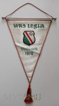 Proporzec Legia Warszawa KS Polonia Bydgoszcz 1970