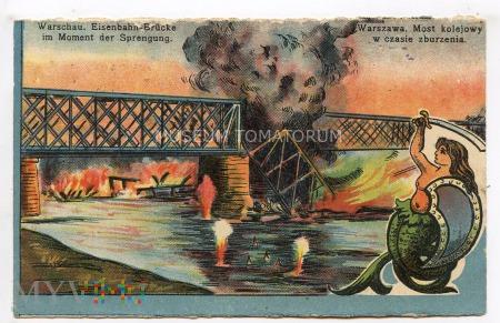 W-wa - IV most - kolejowy przy Cytadeli - 1916