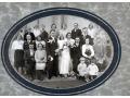 Portret ślubny z rodziną
