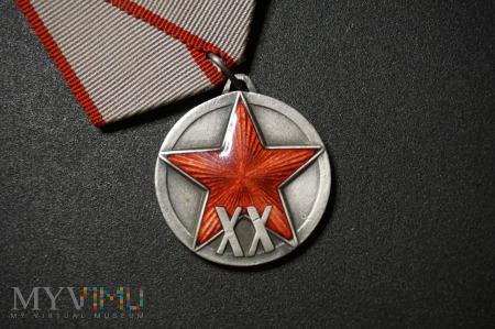 Duże zdjęcie Medal ZSRR - XX lat Armii Czerwonej