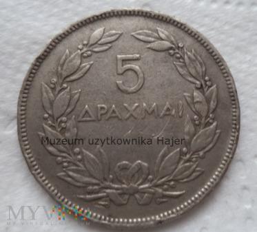 Grecja - 5 drachm - 1930 rok