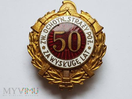Odznaka Za Wysługę 50 Lat Jednoczęściowa Wypukła