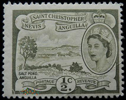 St.Christopher Nevis Anguilla 1/2c Elżbieta II
