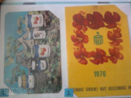 Kalendarzyki 1976