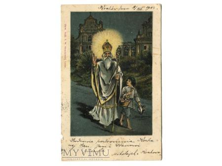 1904 Święty Mikołaj Tadeusz Rybkowski pocztówka