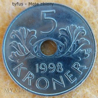 5 KRONER - Norwegia (1998)