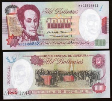 Venezuela - P 76c - 1000 Bolivares - 1998