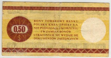 Bon Towarowy PeKaO - B29b - 50 Centów - 1979