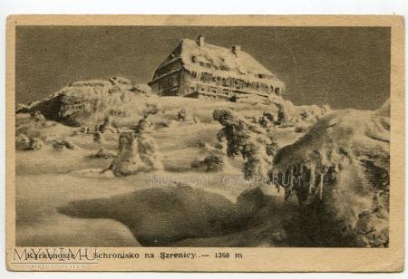 Duże zdjęcie Karkonosze - schr. Na Szrenicy - lata 40-te